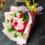 Mawar Pink Merah Buket BB4004
