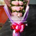 Buket Mawar Pink Panjang BB2704