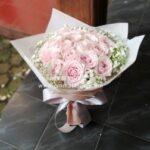 Buket Mawar Pink Bulat BB3303