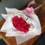 Buket Mawar Merah Bulat BB3004