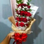 Buket Bunga Mawar Merah Murah BB2702