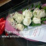 Buket Mawar Putih Murah BB2202